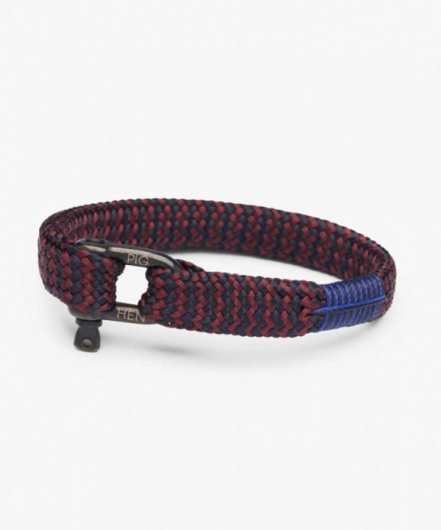 Armband Sharp Simon Bordeaux Blau Schwarz