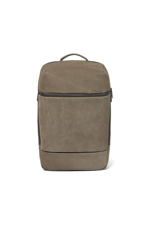 Rucksack Daypack Leather Backpack SAVVY Weims Taupe