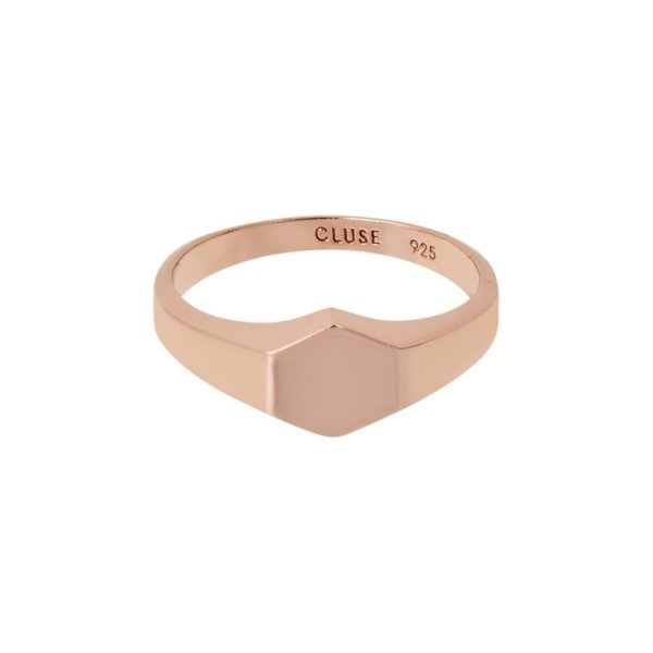 Cluse Essentielle Rose Gold Hexagon Ring