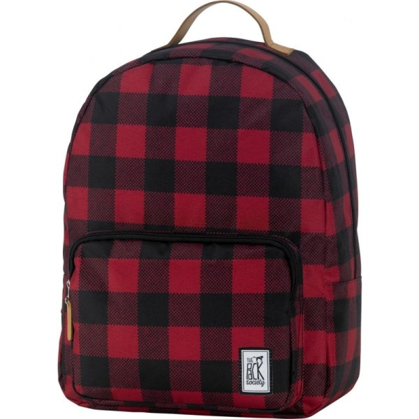 Backpack Print Classics black and red checks allover
