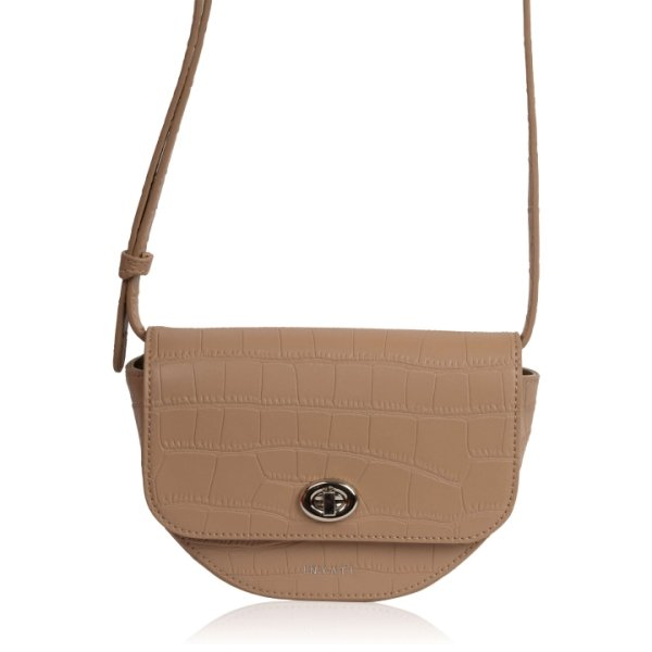 Inyati Elsie Hip bag sand croco matt Beige