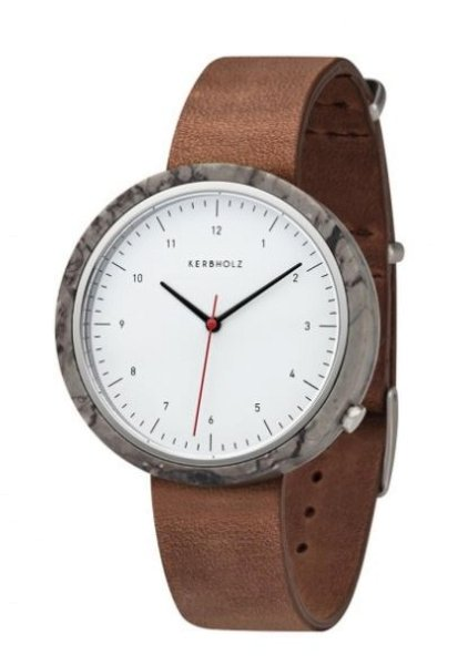 Uhr HEINRICH Quaint Grey Marble / Tobacco