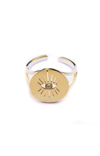 BAGUEREGLABLEACIERREGLABLE gold ring auge
