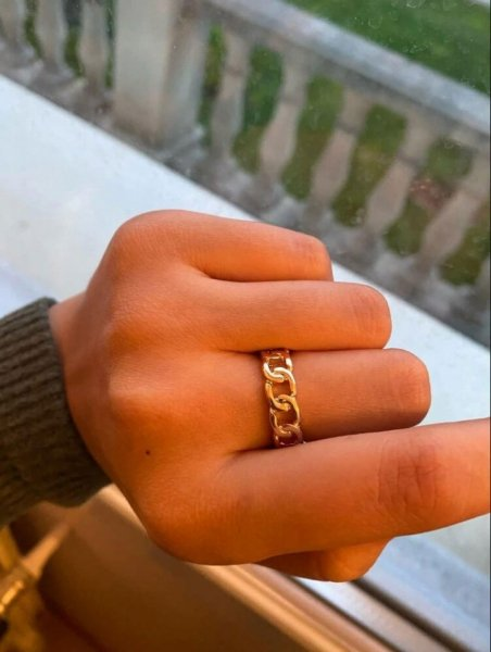 Ring Gold Gliederkette 54