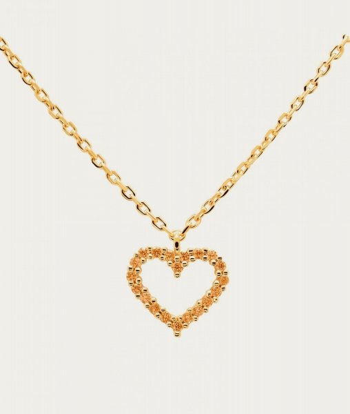 PD Paola Champagne Heart Goldhalskette