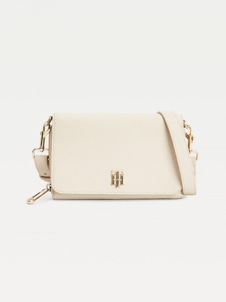 Tommy Hilfiger Umhängetasche Soft Small Crossover Classic Beige