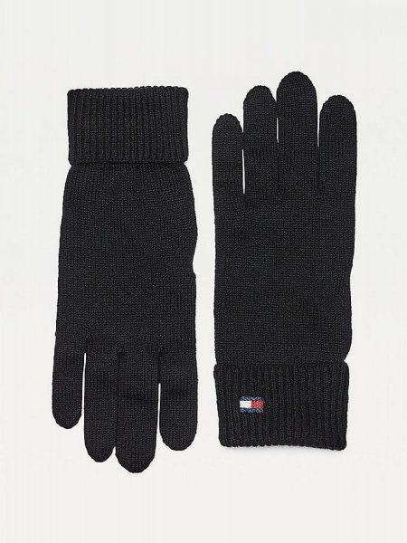 Tommy Hilfiger Essential Knit Gloves Black