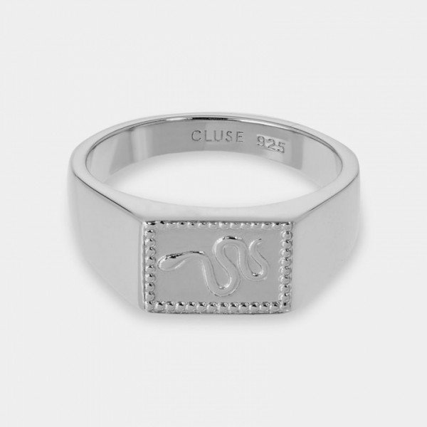 Cluse Ring Force Tropicale silber Signet Rectangular Damen