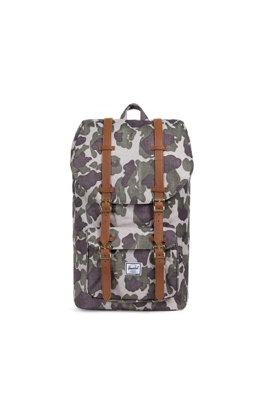 Rucksack Little America - Variante: Frog Camo/Tan Synthetic Leather