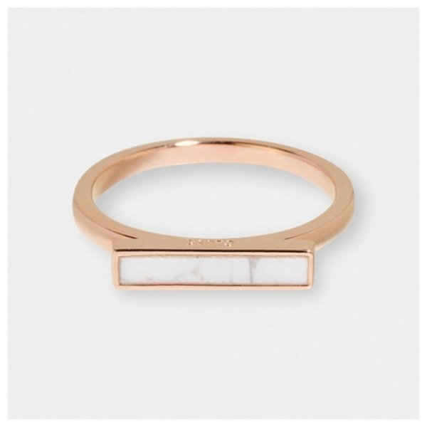 Cluse Ring Idylle Roségold Marmor Barren