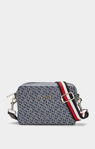Umhängetasche Iconic Tommy Camera Bag Monogram Blue Ink