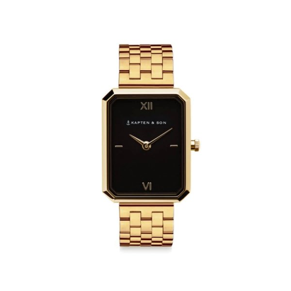 Kapten & Son Uhr Grace Gold Black Steel