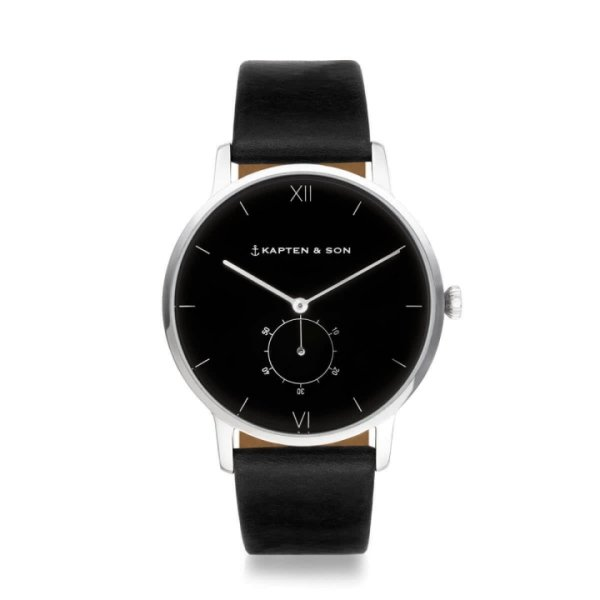 Kapten & Son Uhr Heritage Silver All Black