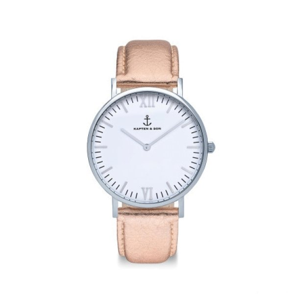 Campina silver rose Mettalic leather
