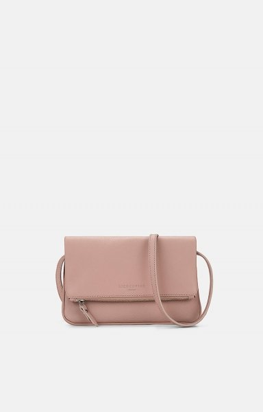 Crossbody Aloe S gefaltete Clutch - Variante: dusty rose / rosa