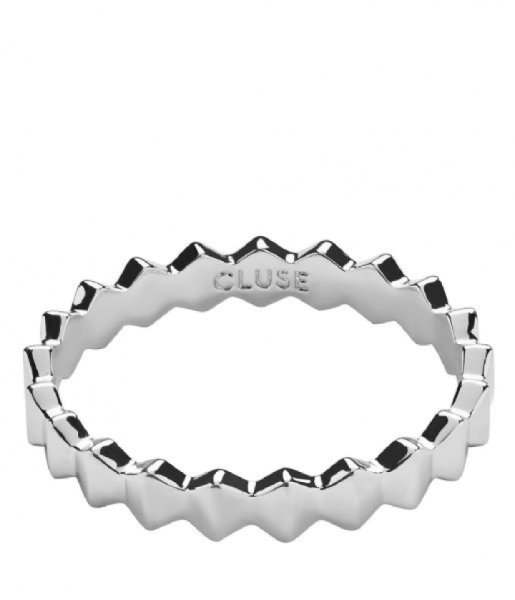 Cluse Ring Essentielle Hexagons All silber